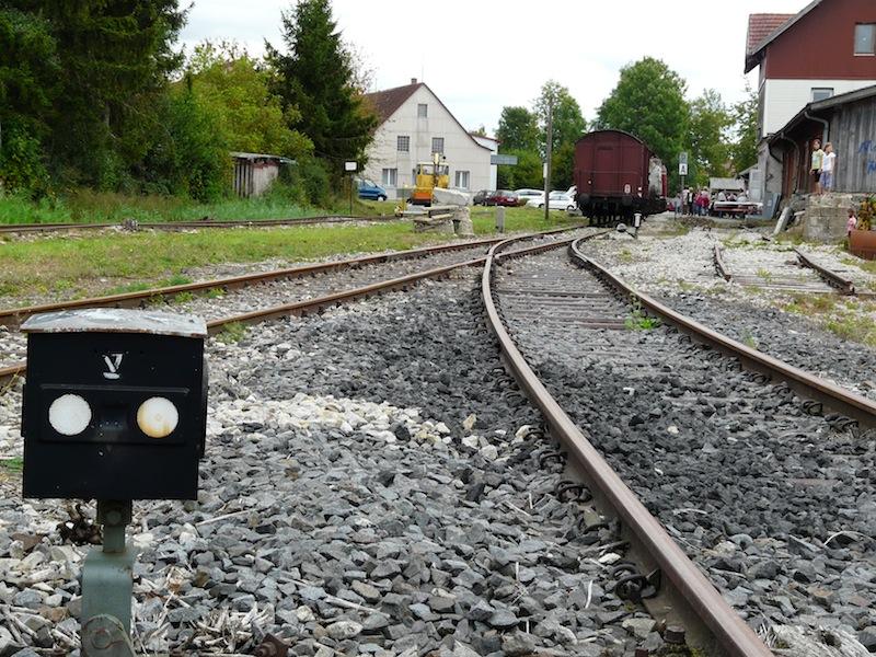 am Bahnsteig Gerabronn