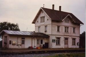 Die Gerabronner Bahnhofswirtschaft Anfang der 1980er Jahre