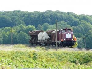 Der Erste Zug nach Gerabronn am 8.9.2013 kurz hinter Blaufelden