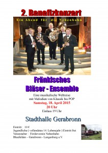 Konzert in Gerabronn am 18.04.2015