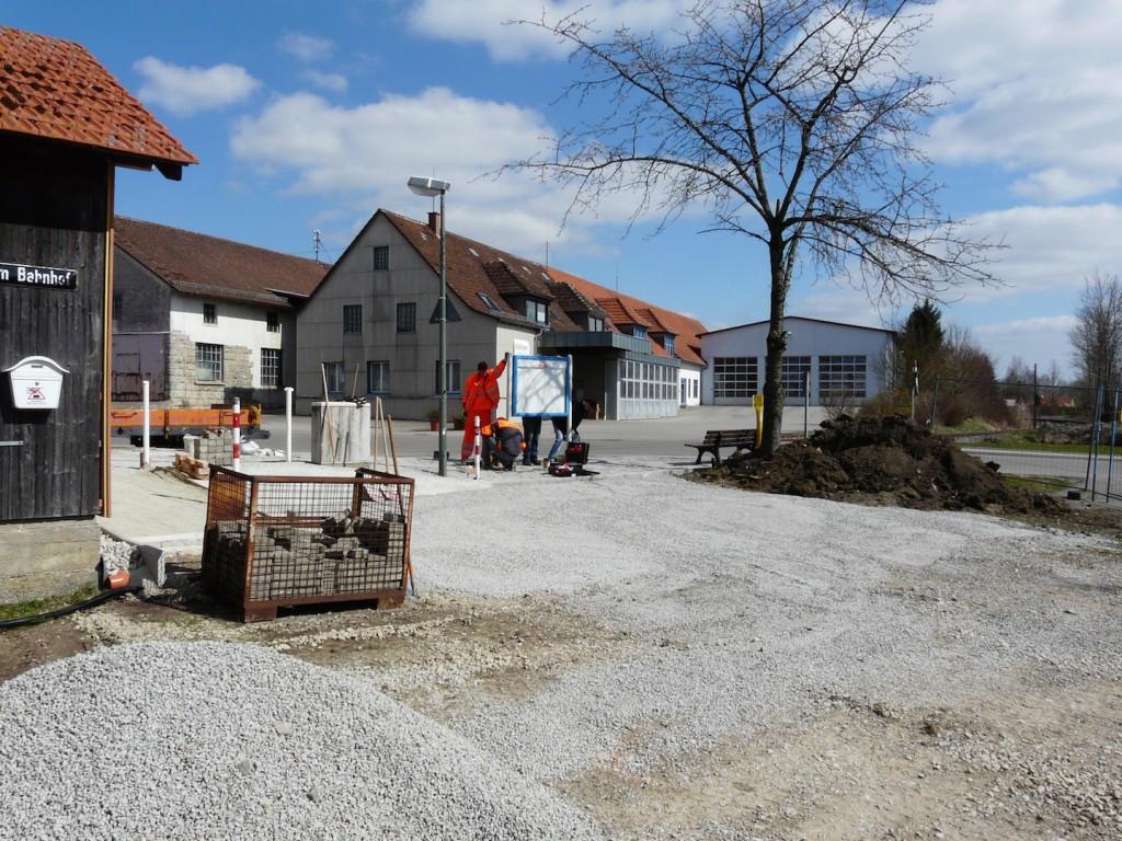 Fertigstellung Parkplatz und Bahnsteig Gerabronn im März 2015