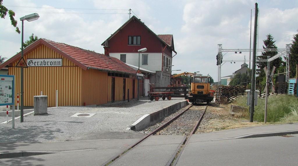 Bahnhof Gerabronn kurz vor Beginn der Theatersaison 2015