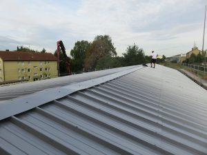 Güterschuppen Bahnhof Gerabronn - Neues Dach